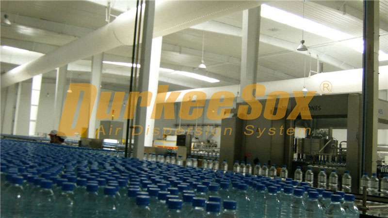 Fabric Air Duct System for Soft Drink